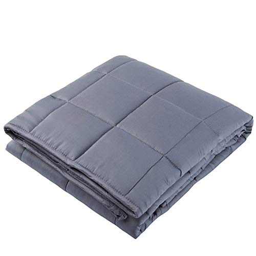 Cheap vctops Cooling Weighted Blanket for Kids 36x48 inches 5lbs 100% Natural Bamboo Viscose Heavy Blanket with Glass Beads Dark Grey Black Friday & Cyber Monday 2019