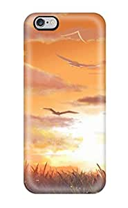 Durable Case For The Iphone 6 Plus- Eco-friendly Retail Packaging(animal Bird Clouds Cross Dress Grass Hatsune Miku See Through Signed Sky Sunset Twintails Vocaloid Xuehua)
