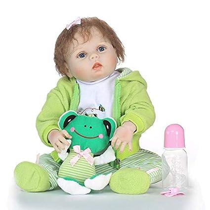 Doll Reborn Baby Soft Simulation Vinilo De Silicona 21.7 ...