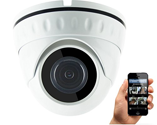 HDView (Economic Series) 4MP Megapixel HD IP Network Camera WDR 2.8mm Wide Angle Lens Motion Detection SD Card Support Wide Dynamic Range IR Cut Filter Infrared Eyeball Dome PoE ONVIF (3 Mp Camera Arecont)