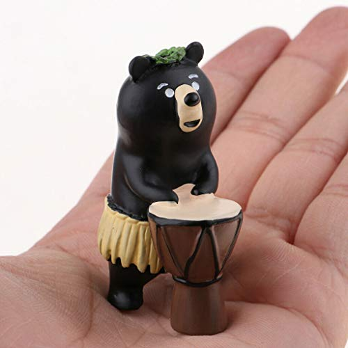 NATFUR Miniature Dollhouse Animal Figurine Kids Gift Home Decor-Hula Bear from NATFUR