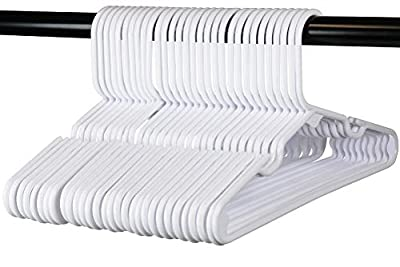 Children's Hangers, Very Durable, Made in The USA to Last a Lifetime! Designed to Fit for Children and Babies Value Pack of 30 - White