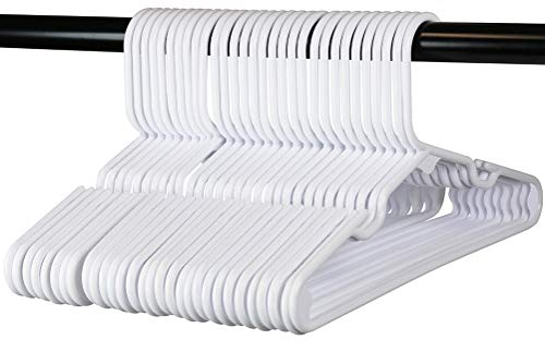 30 Premium Children's Hangers, Very Durable Heavy Duty Tubular Hangers, Made in The USA to Last a Lifetime! Designed to Fit for Children and Babies Value Pack of 30 - White ()