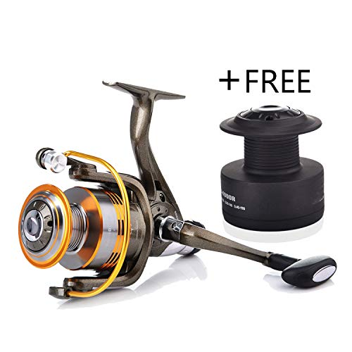 10+1 Bb 5.1:1 Spinning Reels Fishing Vessel Metal Fishing Wheel Free Line Cup for Fishing,Gold,11,5000 Series