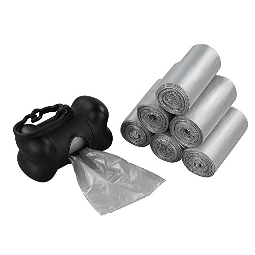 Anbers Dog Waste Bags Include 2 Dispensers, 1200 Counts/ 60 Rolls