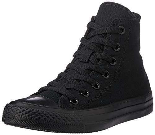 Converse Chuck Taylor All Star Canvas High Top Sneaker, Black Monochrome, 3 US Men/5 US - Slip All Star Taylor Chuck Ons
