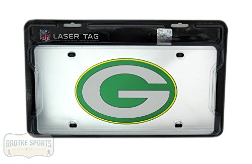 Green Bay Packers Officially Licensed NFL Mirror Laser Tag License Plate