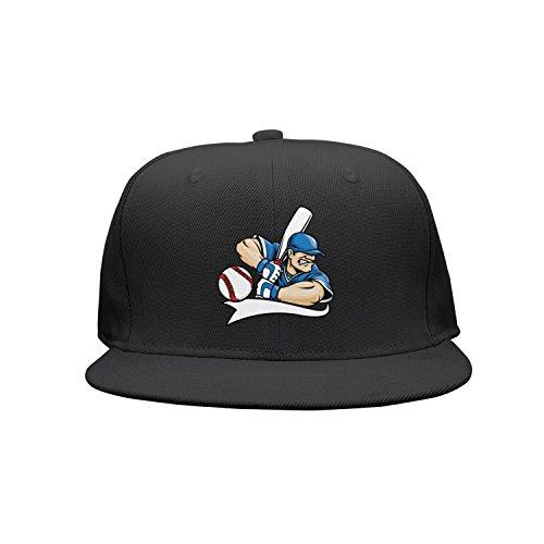 Unisex Cartoon Baseball Player Visor Hats Adjustable Cute