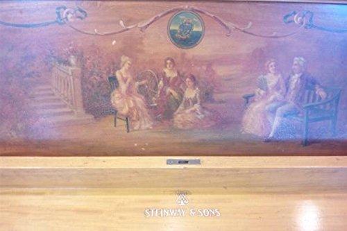 希少!正規品STEINWAY&SONS(スタンウェイ)無垢材手描アップライトピアノ B00SB49B98