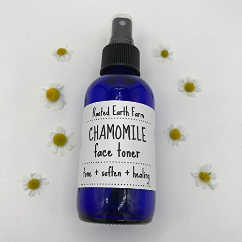 Chamomile Aloe Herbal Face Toner 4 oz for sensitive skin by Rooted Earth Farm + Apothecary