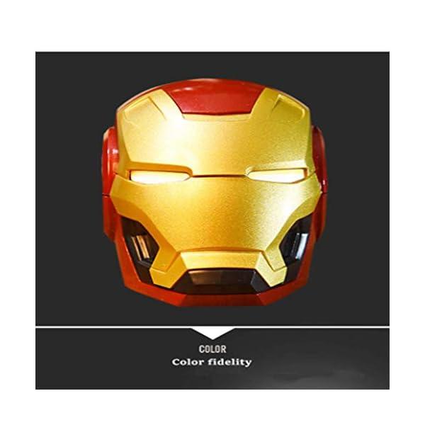 Mini Haut Parleurmini Iron Man Haut-Parleur sans Fil Puissant Enceintes Portables Ordinateur Cadeau Novateur Pratique Radio Musique 4