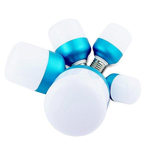 Corner Hut - Back To My Hut LED Bulb E27 Home Bulb 360 ° No Dead Corner Energy-Saving Lamp Lighting Warm Yellow/White (6 Packs)