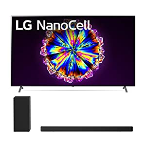 """LG 86NANO90U 86"""" 4K Ultra High Definition Nano 90 Series Smart NanoCell TV with a LG SN6Y 3.1 Channel DTS Virtual High Resolution Soundbar and Subwoofer (2020) Televisions"""