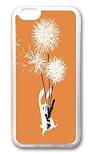 Apple Iphone 6 Case,WENJORS Awesome Bunny and Dandelion Bouquet Soft Case Protective Shell Cell Phone Cover For Apple Iphone 6 (4.7 Inch) - TPU Transparent