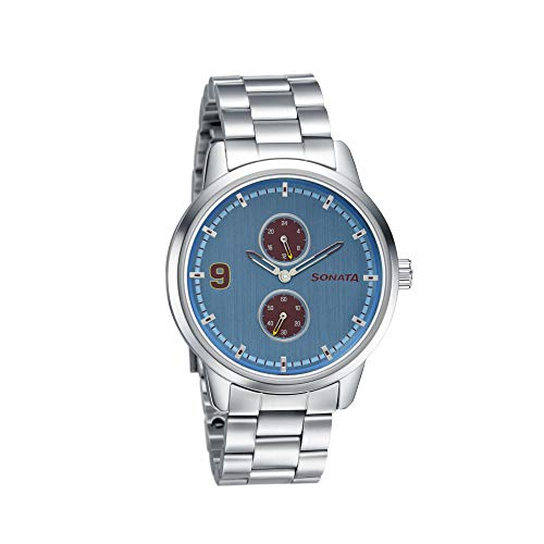 Sonata Analog Blue Dial Men's Watch 7139SM03