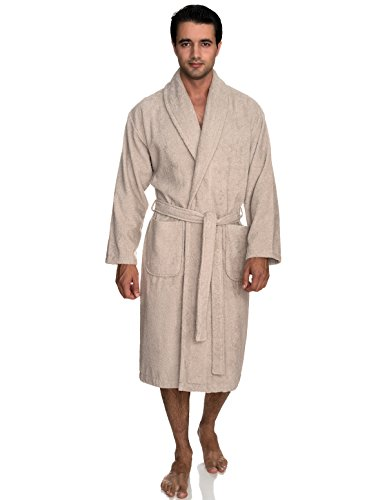 (TowelSelections Men's Robe, Turkish Cotton Terry Shawl Bathrobe X-Large/XX-Large Chateau Gray)