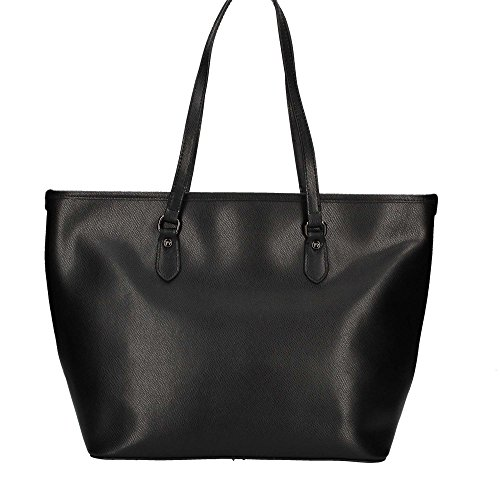 Borsa Shopping grande in pelle Y Not - 797-B colore Nero