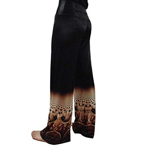 Pantaloni Estivi Accogliente Libero Eleganti Di Larghi Donna High Ragazza Waist Stoffa Pantaloni 1 Chic Stampato Pantaloni Abbigliamento Tempo Pantalone Palazzo Colour Lunga f4BXn4Iq