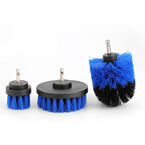 Drill Cleaning Brush, 3Pcs/Set Power Scrubber Drill Attachment PP Bristles Cleaning Tool for Bathroom Surfaces, Tub, Tile,...