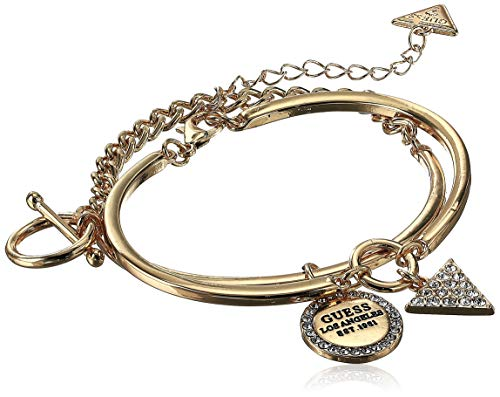 - GUESS Women's Duo Bracelet Set with Logo, Gold, One Size