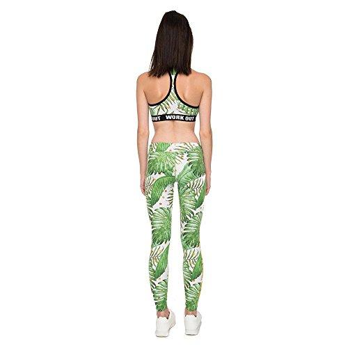 Polaina Fitness Trabajo Alta Impresión Cintura Mayuan520 Mujer De Leggings A s Mujeres Gold L Palm Pantalones qTgBR4w