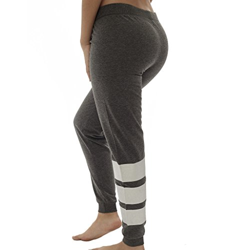 [E363XP-HC-2X] Coco-Limon Plus Size Joggers - Fleece, Leg Stripe Print