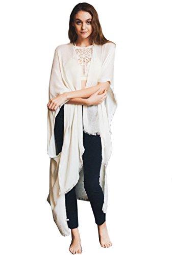 HEYDAY New Women Long Kimono Cardigan Boho Open Loose Long Maxi Cover up (Nude)