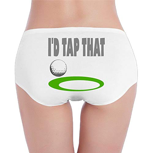 (Sexy Seamless Womens I'd Tap That Golf Prints Cotton Panty/Underwear Organic Knickers)