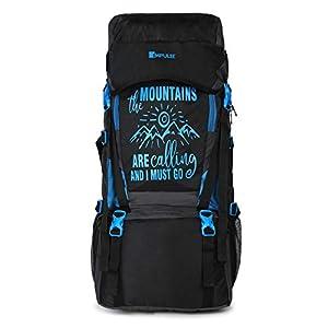 Impulse Waterproof Travelling Trekking Hiking Camping Bag Backpack Series 55 litres Blue Mt Calling Rucksack