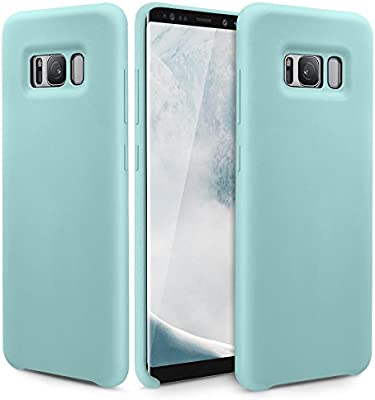 more photos 7e5ab dc0d4 Silicone Galaxy S8 Plus Case, Slim Fit Liquid Silicone Gel Rubber Samsung  Galaxy S8 Plus Shockproof Case Soft Microfiber Cushion Thin Protective  Phone ...