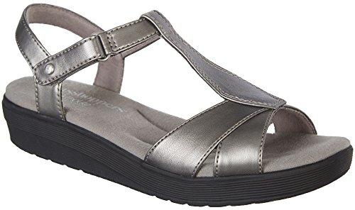 Grasshoppers Women's Clover Sandal,Pewter,6.5 M - Clover Footwear