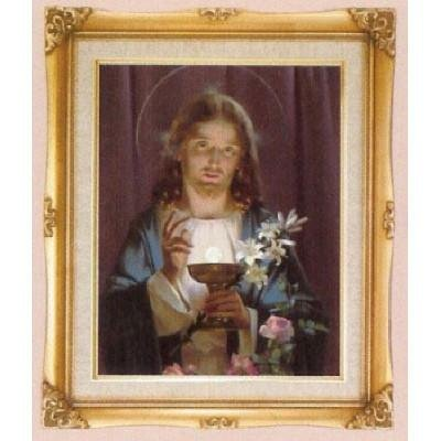 Jesus Offering Holy Communion Framed Art by Discount Catholic Store