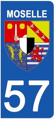 02 Blason Aisne- Stickers Garanti 1 an aux Rayons UV. DECO-IDEES 2 Stickers pour Plaque dimmatriculation Stickers recouvert dun pelliculage sp/écifique pour Resister aux intemp/éries
