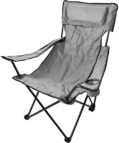 Robuster Camping Outdoor Angler Klappstuhl Outdoor Farbe Grau Deluxe