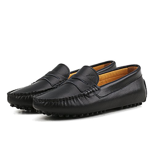 Casual Shoes Loafers Black AUSLAND Women's Flats Slip on Cq5p1w6