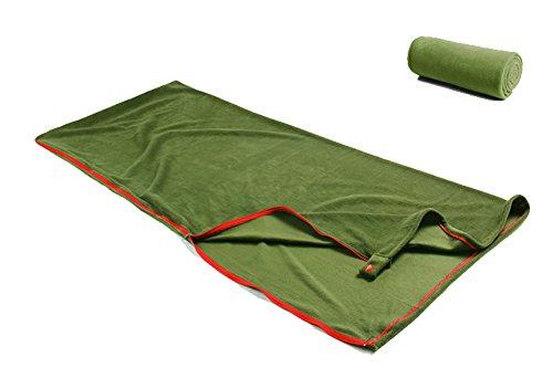 Zhongkeyi Bundle Monster Warm Cozy Microfiber Fleece Adult Sleeping Bag Liners