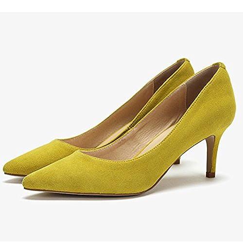6cc60e50 snfgoij Mujer Negro Tacones Altos Moda Zapatos De Corte De Trabajo Sexy  Zapatos De Boda De