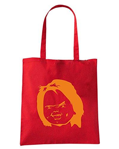 T-Shirtshock - Bolsa para la compra FUN1008 chucky decal 3 70575 Rojo
