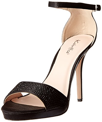Coloriffics Mujeres Kayla Dress Sandal Black