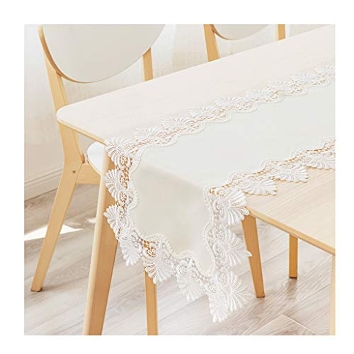 (Restaurant Tablecloth Runners Tablecloth Lace Edge Waterproof Simple Coffee Table TV Cabinet Cover Wedding Banquet Tablecloth (Color : A, Size : 35220cm))