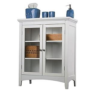 White Bathroom Cabinet Floor Home Fashions Double-door Bathroom Furniture Small Wall Cabinets Vanity for Bathroom