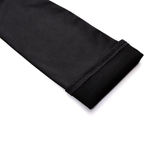 "QNPRT 1920s Opera Satin Long Gloves 19.5"" Elbow Length 12BL,Black"