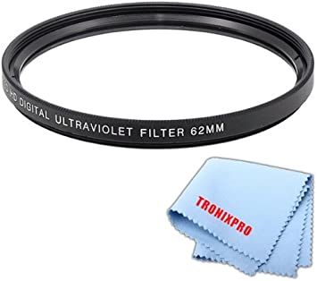 Tronixpro 37mm Pro Series High Resolution Digital Ultraviolet UV Protection Filter Tronixpro Microfiber Cloth