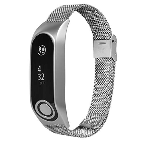 Milanese Metal Case Watch Loop Stainless Steel Watch Band Replacement Strap for Tomtom Touch (Silver) by YNAA (Image #6)