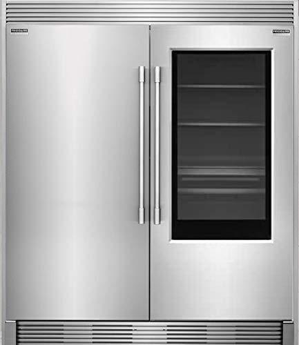 New Frigidaire Professional 19 Cu. Ft. Glass Door All Refrigerator and 19 Cu. Ft. Glass Door All Freezer and Trim Kit, FPGU19F8TF and FPFU19F8RF with TRIMKITEZ2