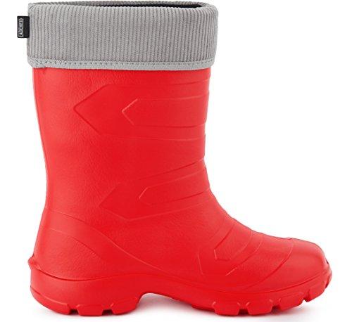Ligeras Ladeheid Mujer Muy Antideslizantes LALMG879 Gris Botas Agua de Rojo88 de Seguridad Zapatos rqwzrxO
