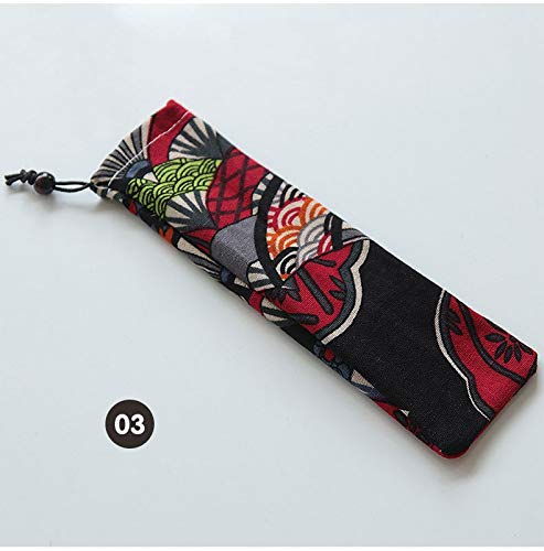 Clock Wood Striped (| Drinking Straws | 100PCS Straw bag Straw Pouch Chopsticks Spoon Tableware Bag Wholesale | by NAHASU)