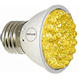 RubyLux Amber Yellow LED Bulb Size Small