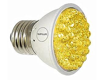 Amazon.com : RubyLux Amber Yellow LED Bulb Size Small : Beauty
