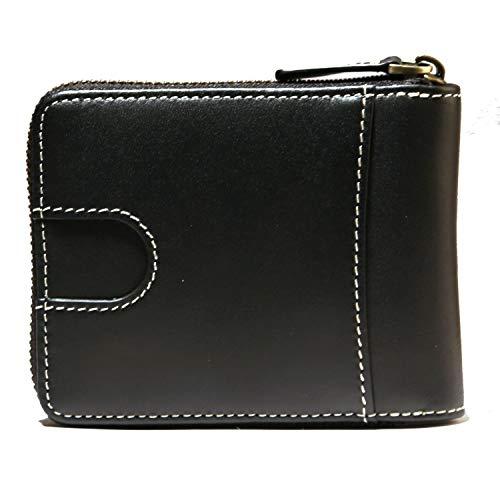 Mens leather zipper wallet